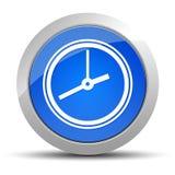 Illustration ronde bleue de bouton d'icône d'horloge illustration stock