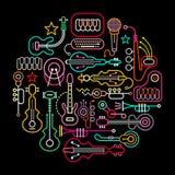 Illustration ronde d'instruments de musique illustration de vecteur