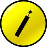 illustration ronde de bouton de jaune de dynamite de vecteur Photos libres de droits