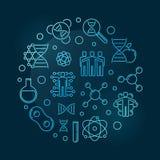 Illustration ronde de clonage d'ensemble bleu de concept de vecteur illustration libre de droits