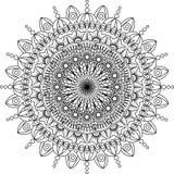 Illustration ronde de mandala Fond de vecteur fond d'isolement et blanc Image stock