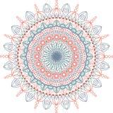 Illustration ronde de mandala Fond de vecteur fond d'isolement et blanc Photos stock