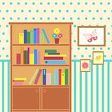 Room with bookcase Stock Photos