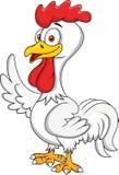 Rooster cartoon waving Stock Photo