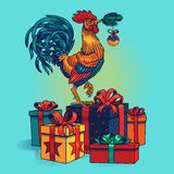 Illustration of a rooster Royalty Free Stock Photos