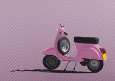 Illustration rose de scooter Photos libres de droits
