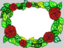 Illustration of rose frame Royalty Free Stock Photo