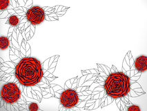 Illustration of rose frame Royalty Free Stock Images
