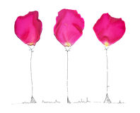Illustration with rose petals Royalty Free Stock Photo