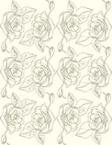 Illustration. Roses on a white background. Seamless pattern. Royalty Free Stock Image