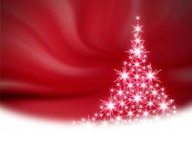 Illustration rouge d'arbre de Noël Images libres de droits