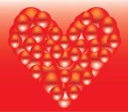 Illustration rouge de cerf Photographie stock