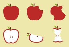 Illustration rouge de configuration de pomme Photographie stock libre de droits