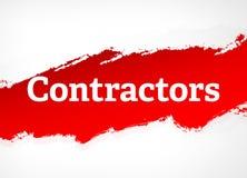 Illustration rouge de fond d'abrégé sur brosse d'entrepreneurs illustration de vecteur