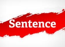 Illustration rouge de fond d'abrégé sur brosse de phrase illustration libre de droits