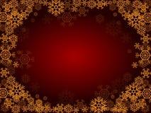 Illustration rouge de Noël Image libre de droits