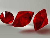 Illustration rouge de pierres gemmes illustration stock