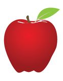 Illustration rouge de pomme illustration stock