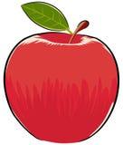 Illustration rouge de pomme Photographie stock libre de droits