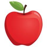 Illustration rouge de vecteur d'Apple Photo libre de droits
