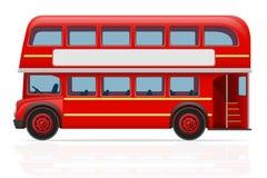 Illustration rouge de vecteur d'autobus de Londres Photographie stock libre de droits