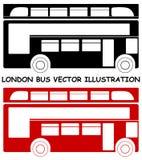 Illustration rouge de vecteur d'autobus de Londres d'isolement Images stock