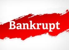 Illustration rouge faillite de fond d'abrégé sur brosse illustration libre de droits