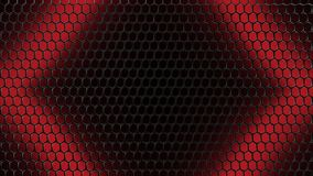 Illustration rouge Mesh Grid Background du noir 3D illustration libre de droits