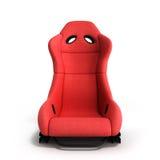 Illustration rouge sportive de l'avant 3d de fauteuil d'automobile sur un blanc Photographie stock libre de droits