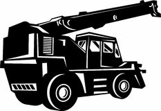 Illustration of a rough terrain crane Royalty Free Stock Photography