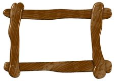 Wooden frame Royalty Free Stock Image