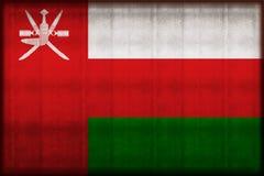 Illustration rouillée de drapeau de l'Oman illustration stock