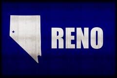 Illustration rouillée de drapeau de Reno illustration de vecteur
