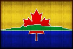 Illustration rouillée de drapeau de Thunder Bay illustration stock