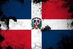 Illustration rouillée et grunge de la République Dominicaine de drapeau illustration libre de droits