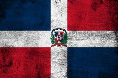 Illustration rouillée et grunge de la République Dominicaine de drapeau illustration stock