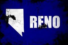 Illustration rouillée et grunge de Reno de drapeau illustration libre de droits