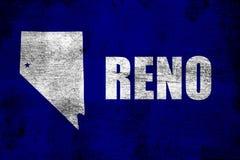 Illustration rouillée et grunge de Reno de drapeau illustration stock