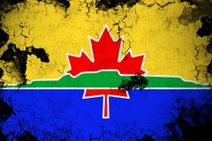 Illustration rouillée et grunge de Thunder Bay de drapeau illustration de vecteur