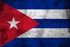 Illustration rouillée et grunge du Cuba de drapeau illustration libre de droits