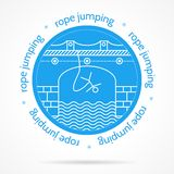 Illustration with round blue icon and text for Royalty Free Stock Photography