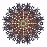 Elegant and tender lace multicolor circle pattern Royalty Free Stock Image