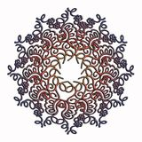 Elegant and tender lace multicolor circle pattern Stock Images