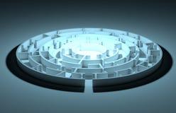 Illustration of round maze Royalty Free Stock Images