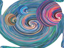 Illustration of a round spiral background cropped, abstraction Royalty Free Stock Photo