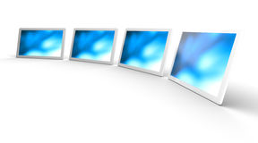 Flat displays Royalty Free Stock Images