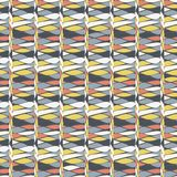 Illustration of rows of lime, white, tan and grey teardrops in geometric pattern. royalty free illustration