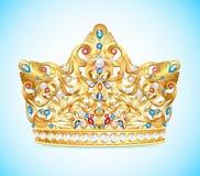 Illustration royal golden crown Stock Photo