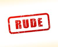 Rude red text stamp. Illustration of rude red text stamp Royalty Free Stock Photo