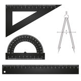 Illustration of ruler Stock Photo